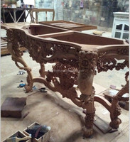 hand carving wooden console,french style console table,wood carving console,western style wood carving console