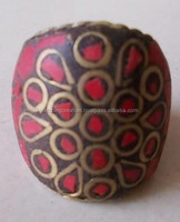 Designer golden line on red background lac ring in wholesale price