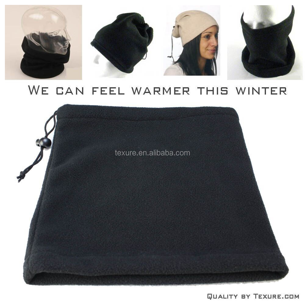Multi-purpose Polar Fleece Neck Warmers Snood Scarf Hat Unisex Thermal Ski Wear Snowboarding