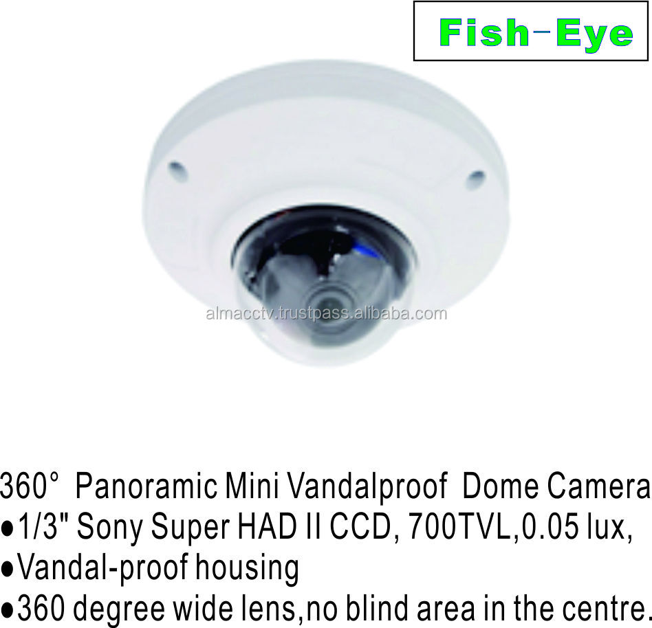 360 degree Panoramic Mini Vandalproof Dome Camera