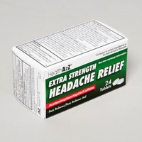 HEADACHE RELIEF 24 TABLETS BOXED COMPARE TO EXCEDRIN #28524