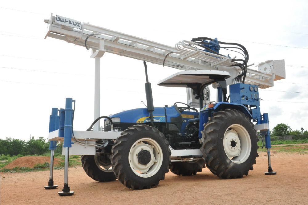 Hot selling tractor water well drilling rig/trailer mounted drilling rig with lowest price