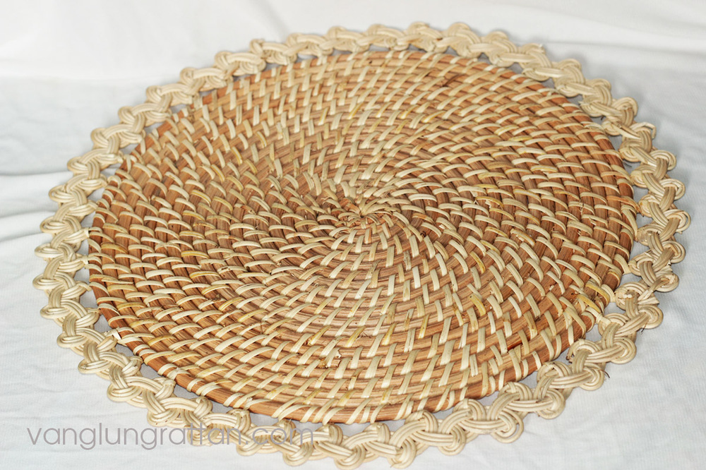 New design Bamboo Rattan Placemats D38cm