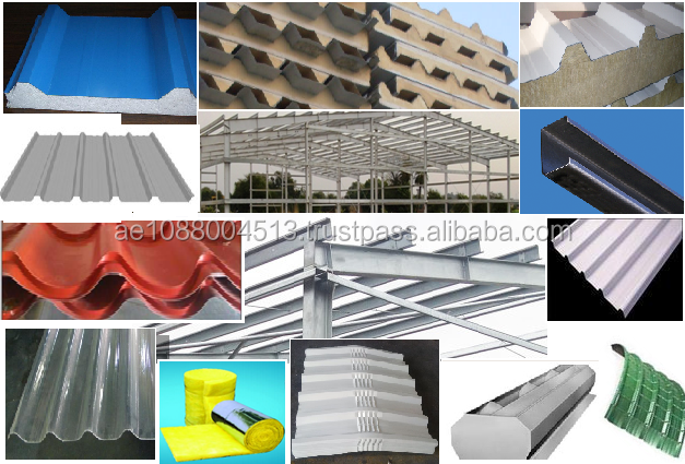 Factory shed/Warehouse/PEB/Metal Building Materials +971 56 7796760 Dubai/AbuDhabi/UAE - PPGI/Steel/AluZinc Cladding