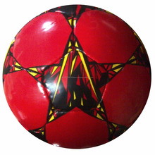 Latest Star Football/Soccer Ball Design in 32 Panels (sexy red color)