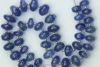 7 inch long strand Rondelles Beads of natural Tanzanite