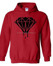 Diamond Black Hoodie Dripping Melting Bleeding Logo Hooded Sweatshirts