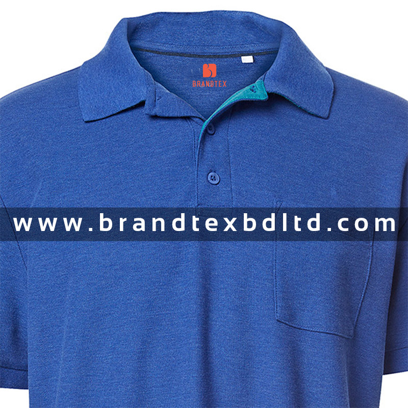 Mens Short sleeve blue polo shirt fashionable wholesale latest design 2016 from Bangladesh manufacturer