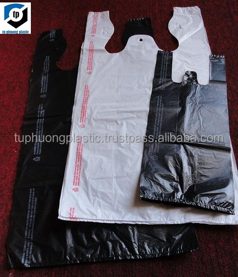 T-shirt plastic bag/Shopping plastic bag/Black plastic bags