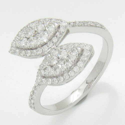 Hot selling white gold with diamond online ring shop from Thailand at wholesale price