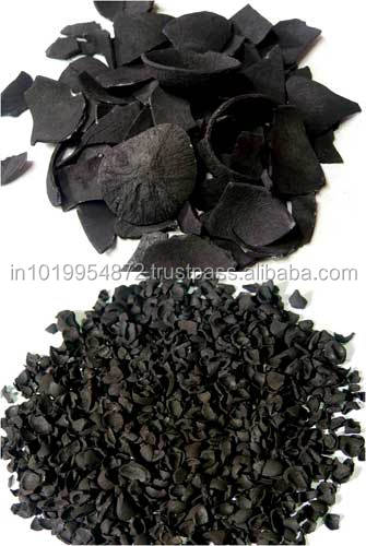 Black Granular activated Carbon coconut shell Charcoal for water purification