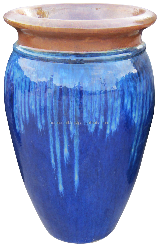 Tall Outdoor Large Glazed Ceramic Planter Buy Large