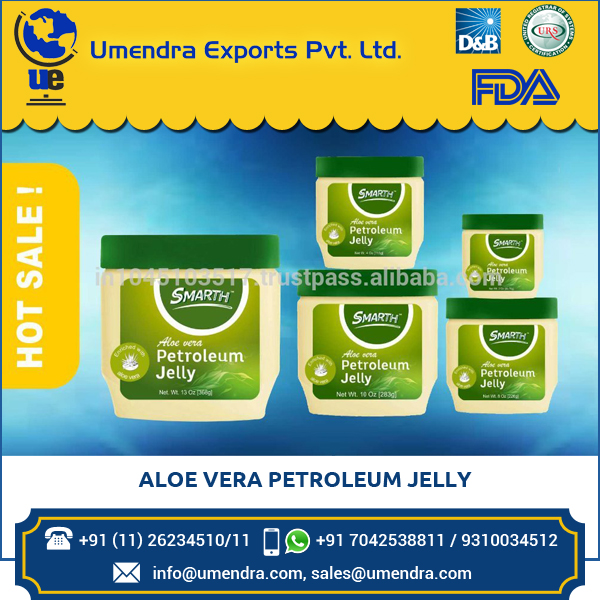 Hygienically Packed Aloe Vera Petroleum Jelly with Excellent Fragrance