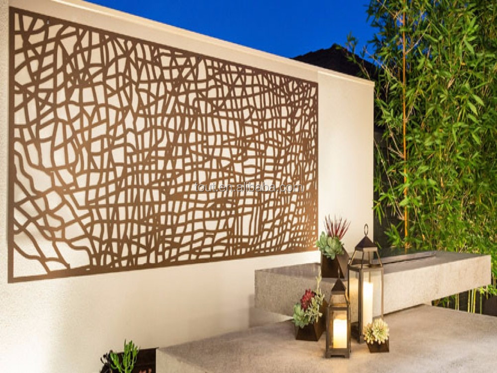 Decorative grill wall panel outdoor garden screen buy for Buy outdoor privacy screen