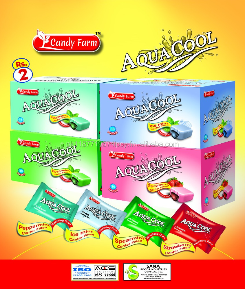 Aqua Cool Center Filled Gum
