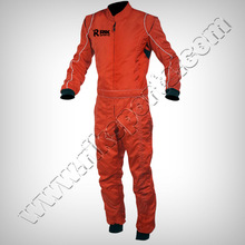 Motorbike Kart Racing Suit Orange Color Scheme Long Lasting durable Material to keep Ease while Wearing & Riding