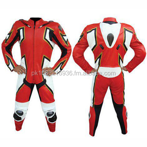 Men Designer Motorbike Racing Leather Suit FC-11336