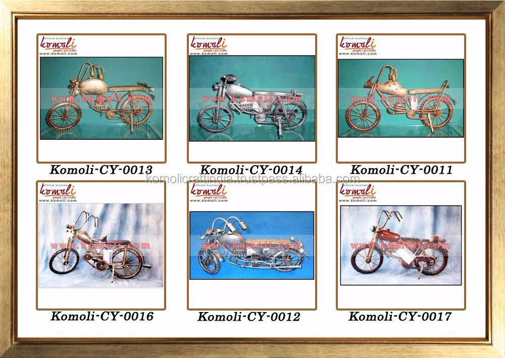 Handmade metal motorcycle model of miniature bike of metal craft motorcycle models