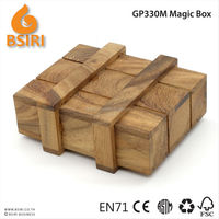 Magic Puzzle Box Wooden Secret Compartment Gift Intelligence Brain Teaser