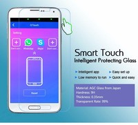 smart touch gorilla glass screen protector many models 4 shortcut key custom function for Android Phones