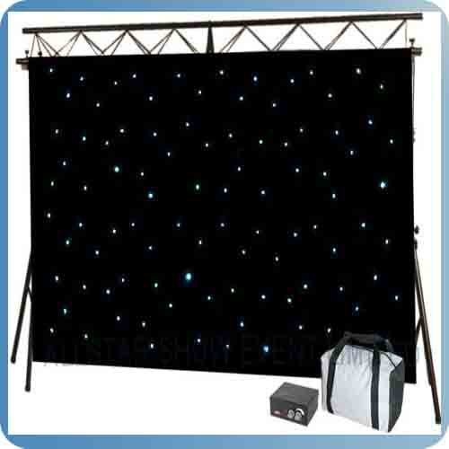 Rk newest star curtain with blue colors