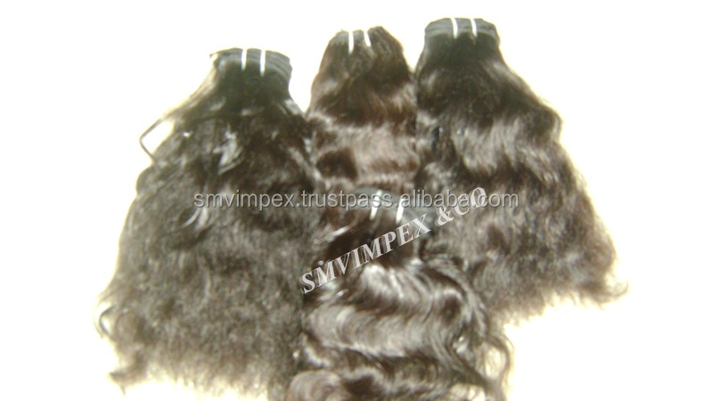 unprocess hand made wefting indian hair. micro wefting and 8 thread hand wefting from india