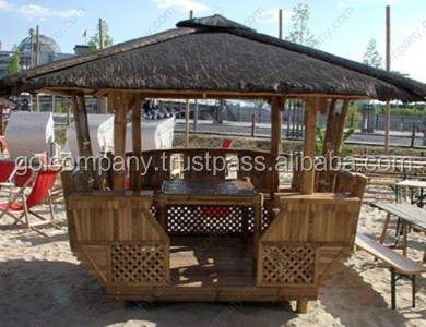 [wholesale] Bamboo Tiki Bar Hut - Bamboo bar for resoft home & garden - Bamboo stool / Chair - Gazebo / Bungalow
