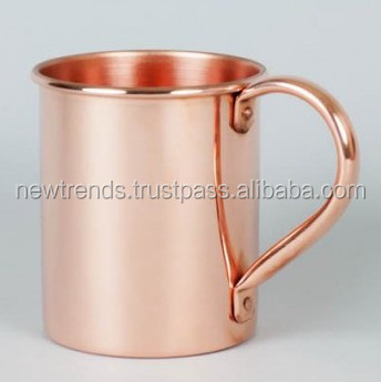 16 oz Solid Copper Moscow Mule Mug - Authentic Moscow Mule Mugs with riveted handle