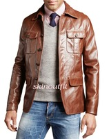 leather blazer for men