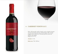 CABERNET VENETO I.G.T. ITALIAN RED WINE (1 carton with 6 bottles)