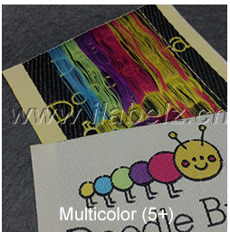 Wholesale High Quality Main Gold Thread Woven Label for Clothing