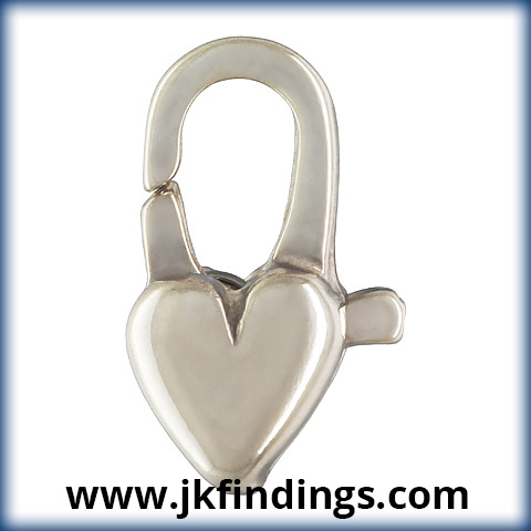 Heart Cast Clasp (5.0x12.0mm)