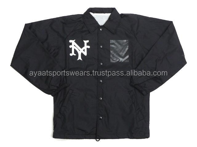 Windbreaker Running sports plain coach jacket