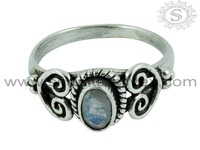 Gorgeous Rainbow Moonstone New Fashion 925 Sterling Silver Engagement Ring Rings for Women Jewellery RNCT15-1078-15
