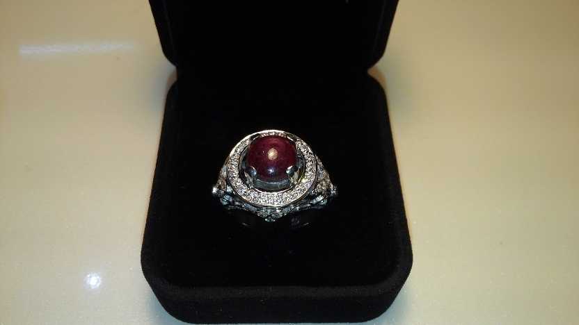 Rare Granted Gemstone Ring Jewellery