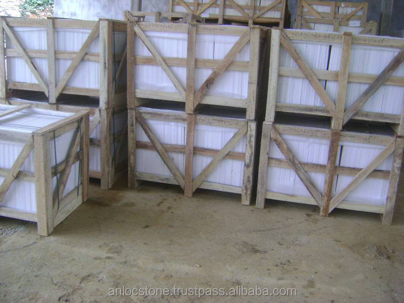 Crystal white marble tiles from Vietnam, polished