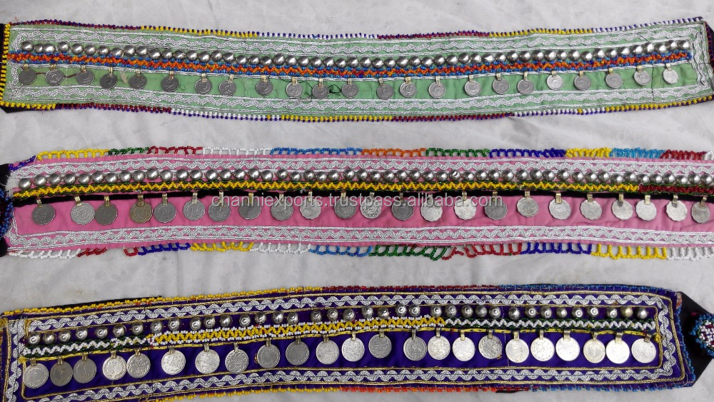 Multicolor Beautiful banjara coin belt
