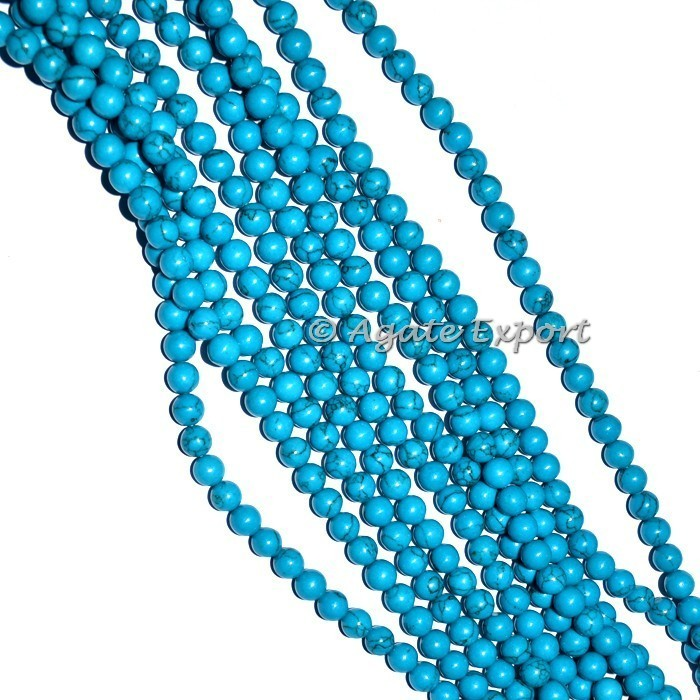 Turquoise Beads Line Buy Online Natural Polished Agate Beads