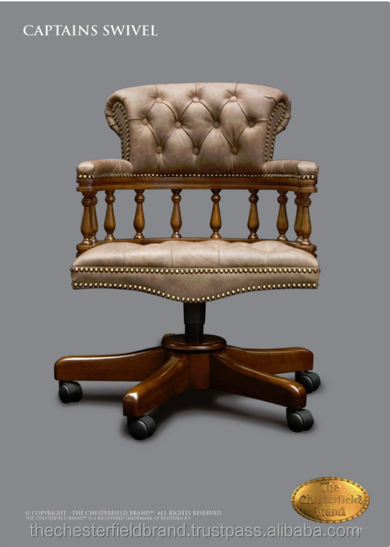 Captains Swivel Chesterfield Office Chair