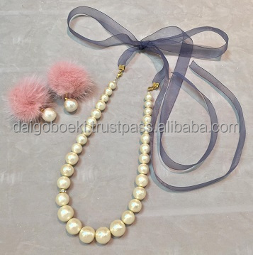 Original and Light weight antique necklace SHINKO Cotton pearl for Accesorries , many colors available