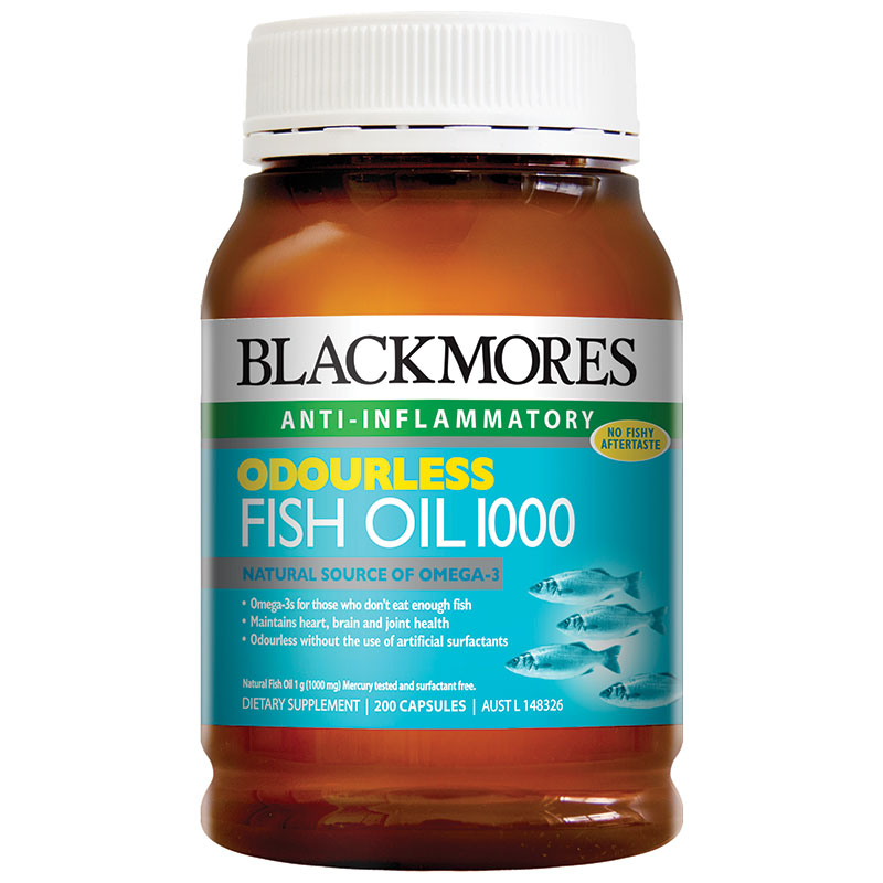 Blackmores Odourless Fish Oil 1000mg 200 Capsules