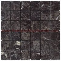 EXPORT QUALITY BLACK ZEBRA MARBLE MOSAIC TILES