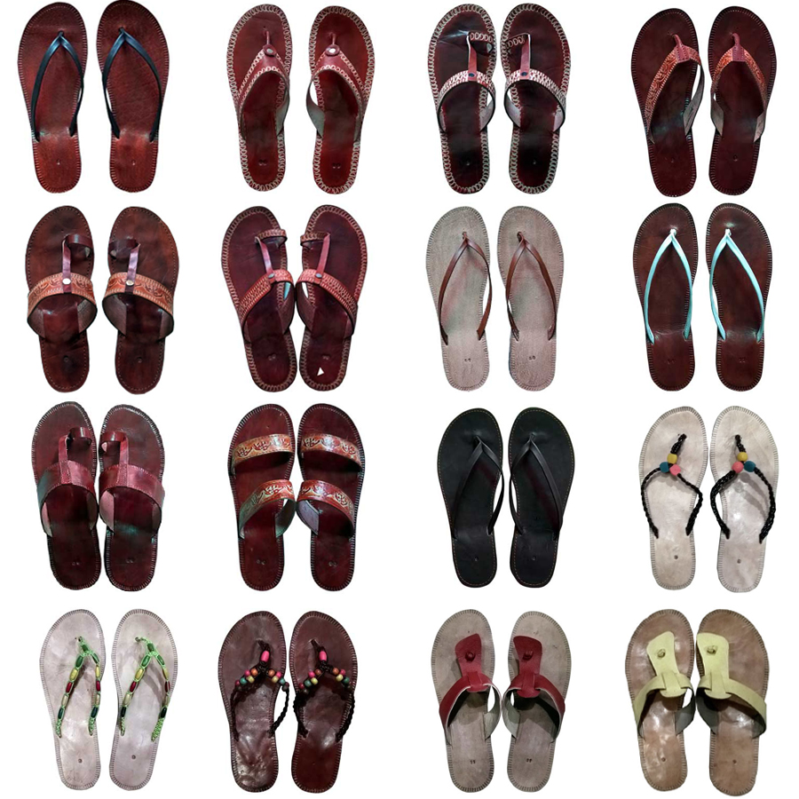 Handmade Mens Summer Real Genuine Leather Sandals Shoes Free Shipping