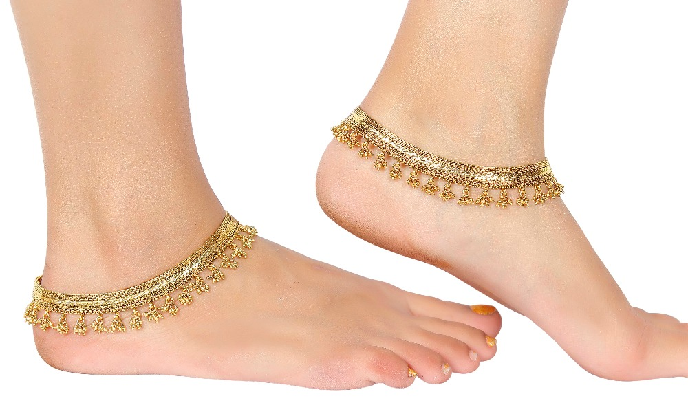 Indian Gold Plated Bell Sounding Payal Anklet
