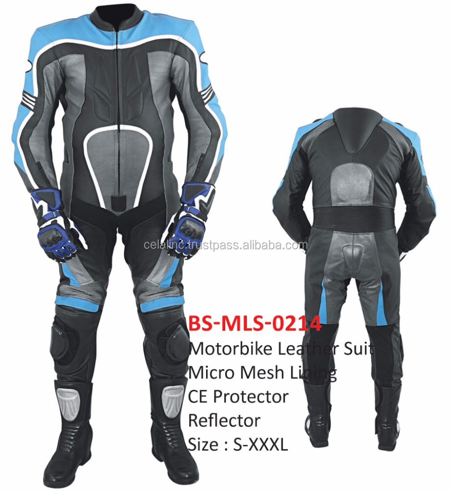Men Professional Leather Motorbike Suits