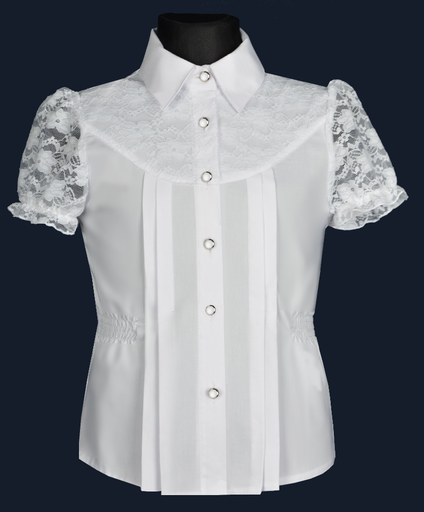 White shirt for girls EWAX Poland short sleeve