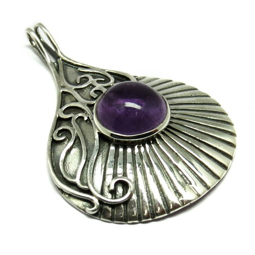 Victorian Style !! Amethyst 925 Sterling Silver Pendant, Indian Silver Jewelry, Fresh Silver Jewelry