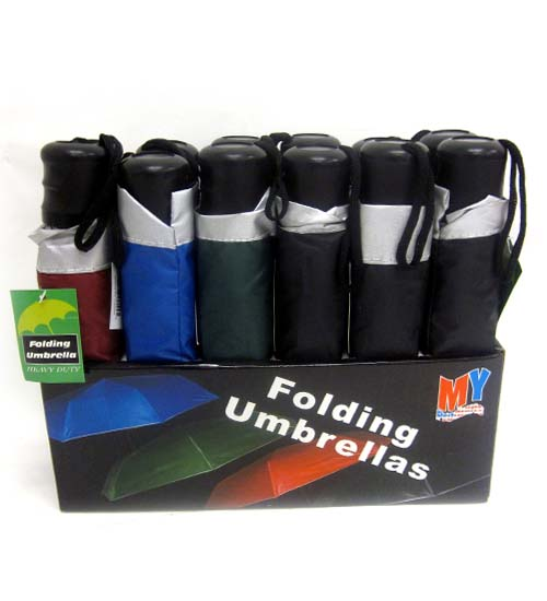 Mini Umbrella In Display Assorted Colors