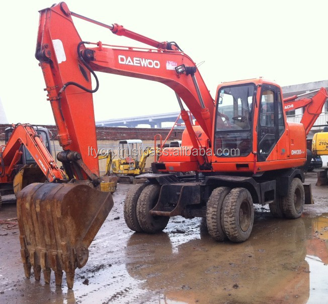 cheap korean wheel excavator daewoo DH150w-7 for sale