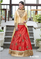 pitch color Anarkali Dress with jariz ,resham and zari buti drees